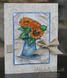 Sunflowers Crinkled 2010 by *Mischelle Smith* - Cards and Paper Crafts at Splitcoaststampers