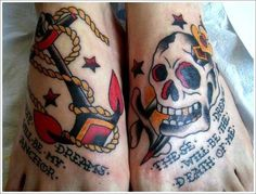 Skull and anchor, artist unknown