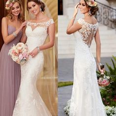 Tüll Appliken Brautkleid Satin Meerjungfrau Friesen Abendkleid Hochzeitskleid