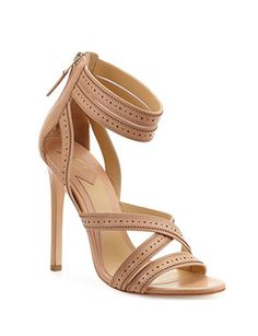 B BRIAN ATWOOD Lucila Perforated Strappy Sandal-Avenue K