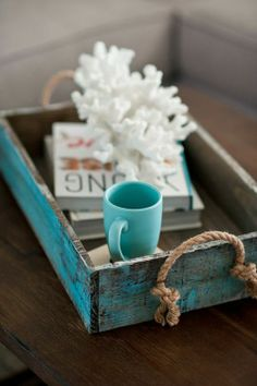 Vintage ♣ Mint accent. for our coffee table!?
