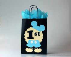 Baby Mickey Mouse favor bags decorations Boy first birthday party Disney Clubhouse Mickey gift bags Mickey Mouse treat candy boxes blue Mickey 1st Birthdays, Boys 1st Birthday Party Ideas, Mickey Mouse Clubhouse Birthday, Mickey Mouse Birthday, Boy First Birthday, Disney Clubhouse, Birthday Decorations, Mickey Mouse Favors, Mickey Mouse Parties