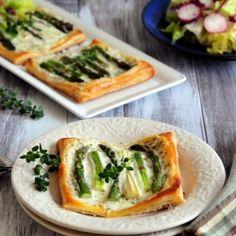 Mascarpone Asparagus Tarts. #foodgawker