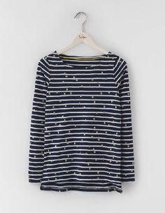Boden Glitter Spot Breton Navy/Ivory Wobbly Spot Women We love Breton stripes. We love spots. So we did the only sensible thing and combined them (with a little dash of shimmer) to create this easy-to-wear essential. Made from lightly textured cotton slub http://www.MightGet.com/january-2017-13/boden-glitter-spot-breton-navy-ivory-wobbly-spot-women.asp