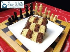 Really easy secret design - How to Make a Chess Board Cake Sew White