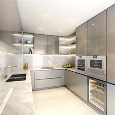 Silver-tone kitchen