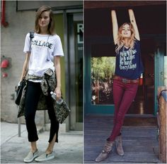 Como usar camisetas estilosamente. 20 looks para inspirar você a arrasar.