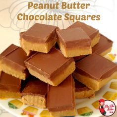 Peanut Butter Chocolate Squares - She Who Bakes