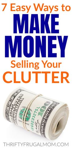 A list of great ways to make money by selling your clutter! Use these ideas to earn money while you declutter and simply. Ways To Save Money, Money Saving Tips, How To Make Money, Vintage Jewelry Crafts, Chores For Kids, Blog Planner, Budgeting Money, Frugal Tips, Extra Money