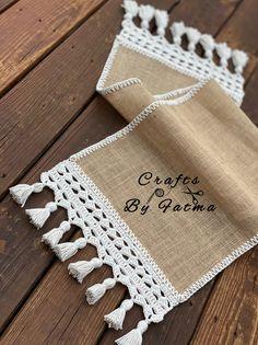 Crochet Placemat Patterns, Crochet Table Runner Pattern, Crochet Tablecloth, Crochet Motif, Crochet Designs, Crochet Doilies, Farmhouse Table Runners, Modern Table Runners, Burlap Table Runners