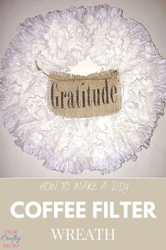 Repurpose inexpensive coffee filters into a pretty DIY coffee filter wreath for your home. It' so easy to make with a foam wreath form. #ourcraftymom #coffeefilterwreath Dollar Store Hacks, Dollar Store Crafts, Dollar Stores, Diy Wreath, Wreaths, Coffee Filter Wreath, Indoor Wreath, Dollar Store Christmas, Wreath Supplies