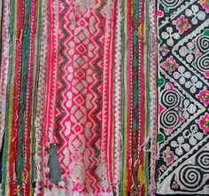 Hmong textiles. They always have unique color combinations.