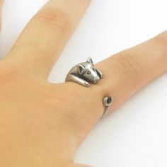 Silver Pig Wrap Ring