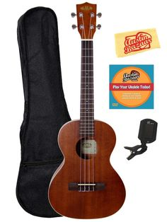 Amazon.com: Kala KA-T Mahogany Tenor Ukulele Bundle with Gig Bag, Austin Bazaar Instructional DVD, Clip-On Tuner, and Polishing Cloth: Musical Instruments