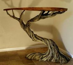 Twisted tree table