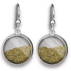 Individual Icon -  Large Diamond Dust French Wire Earrings $150.00  http://individualicons.com/