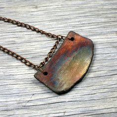 Raku Necklace - Raku Jewelry - Raku Pendant