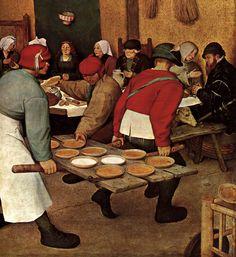 Peasant Wedding - detail 4 by Pieter The Elder Bruegel, 1567