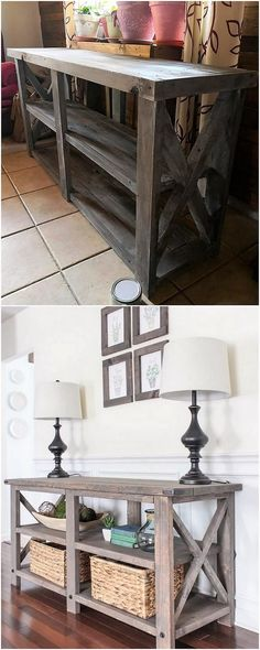 If you want to give out your house with something really creative and unique then you do have the option to add up your house with the amazing entryway table piece. This entryway table style of wood pallet is getting much greater in demand in almost all the houses. You should try it once!