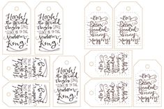 Free Printable Calligraphy Gift Tags! - LindseyBee Blog - The Hive Studio