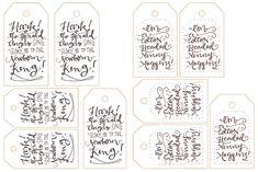 Free Printable Calligraphy GiftTags! - LindseyBee Blog - The Hive Studio