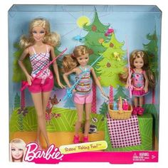 Barbie Sisters' Fishing Fun! Set of 3 (Barbie, Stacie, Chelsea) Perfect gift for the little lady in your life.
