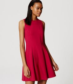Primary Image of Pleated Flare Dress