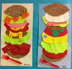 """it's art day: Claus Oldenburg (inspired by """"Two Cheeseburgers"""")"""