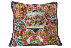 "Pillow w/ Guatemalan Embroidered Fabric  19""L x 19""W  ($229.00)  $159.00  OneKingsLane.com"