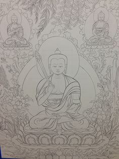 Tibetan Mandala To Color