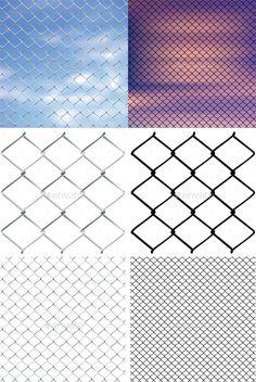 Metal Mesh Fence - Backgrounds Decorative
