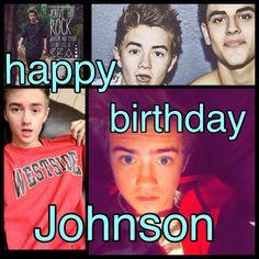 Happy birthday Johnson!!!!!!!! I love u soooo much and i wish i could tell u this in person but i cant:(((( words cant explain how much i loveeee u and the other boys<<3 LOOOOOOVVVVVVVEEEEEE YOUUUUUUUUUUU