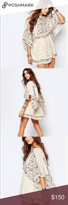 Free people embroidered dress Brand new. Flowy and perfect as a short dress or a tunic Free People Dresses