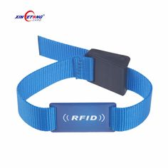 Best price RFID Wristband 13.56Mhz Chip fabric Material Wristband Adjustable wristbale