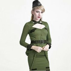 Punk Uniform Style Less Shirt 2017 Women's Sexy Top Shirt Female Gothic Military Blouses For Women Cheap Clothing With Sadhes
