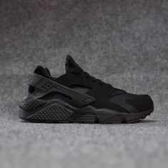 NIKE Black Leather Solid Sports Shoes