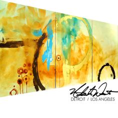 ORIGINAL Large 3 pc Modern Rustic Abstract Fine Art by wescoatart, $300.00