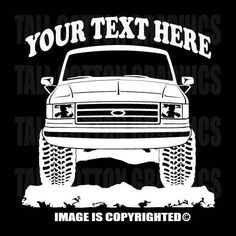 BRONCO - F-SERIES - FORD 4x4 1990-1991 Personalized Vinyl Decal - #OR010