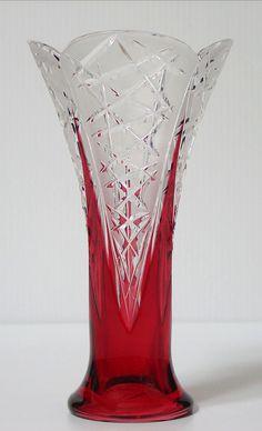 Caesar Crystal - Flowerbud Vase - Ruby