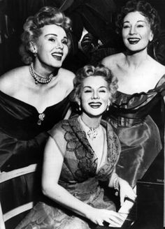 Gabor sisters are three famous Hungarian-American actresses/socialites, Magda June 1915 – 6 June Zsa Zsa (born 6 February and Eva February 1919 – 4 July The Gabor Sisters - Zsa Zsa, Eva, and Magda Eva Gabor, Magda Gabor, Golden Age Of Hollywood, Hollywood Stars, Classic Hollywood, Hollywood Music, Hollywood Icons, Vintage Hollywood, Hollywood Glamour