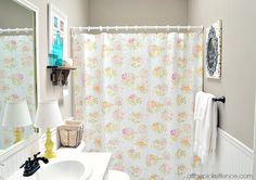Budget bathroom makeover with bead board walls and a fresh coat of paint