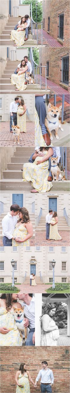 Him + Her + A Dapper Little Dog   Northern Virginia Maternity Photographer   Bethadilly Photography