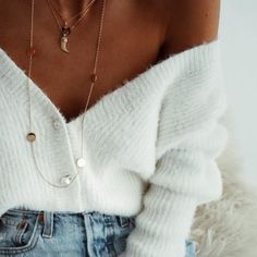 Off the shoulder + layered.