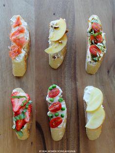 Six simple crostini recipes // #yum