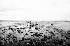 Black and white seascape waterscape sea ocean photo. Fine Art Photography Print gifts for woman men man. Rocks in the sea. $20.00, via Etsy.