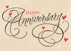 Cardstore makes it easy to personalize and mail happy anniversary cards like Hearts and Script Anniversary card. Just add your own photos, text and a signature to a simply stated happy anniversary cards and we'll mail it for you! Printable Anniversary Cards, Happy Anniversary Quotes, Anniversary Greetings, Marriage Anniversary, Wedding Anniversary, Anniversary Verses, 5 Month Anniversary, Anniversary Message, Romantic Anniversary
