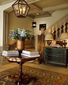 Books, lighting, fresh flowers, traditional, calming, lovely..