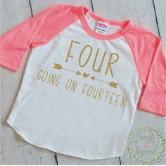 Birthday Shirt for Girls. This birthday girl outfit also makes a great photo prop! We at Bump and Beyond Designs love to help you celebrate life's precious moments! This American Apparel raglan shirt