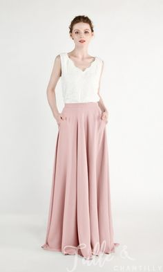 198609734d Chiffon Bridesmaid Skirt with Pocket TBQP454. Bridesmaid SkirtsAffordable  Bridesmaid DressesSkirts ...