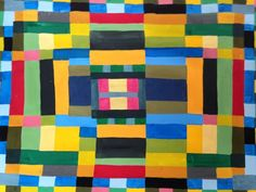2 Geometric Abstraction Paintings by Jeff Hudson For Sale at 1stdibs